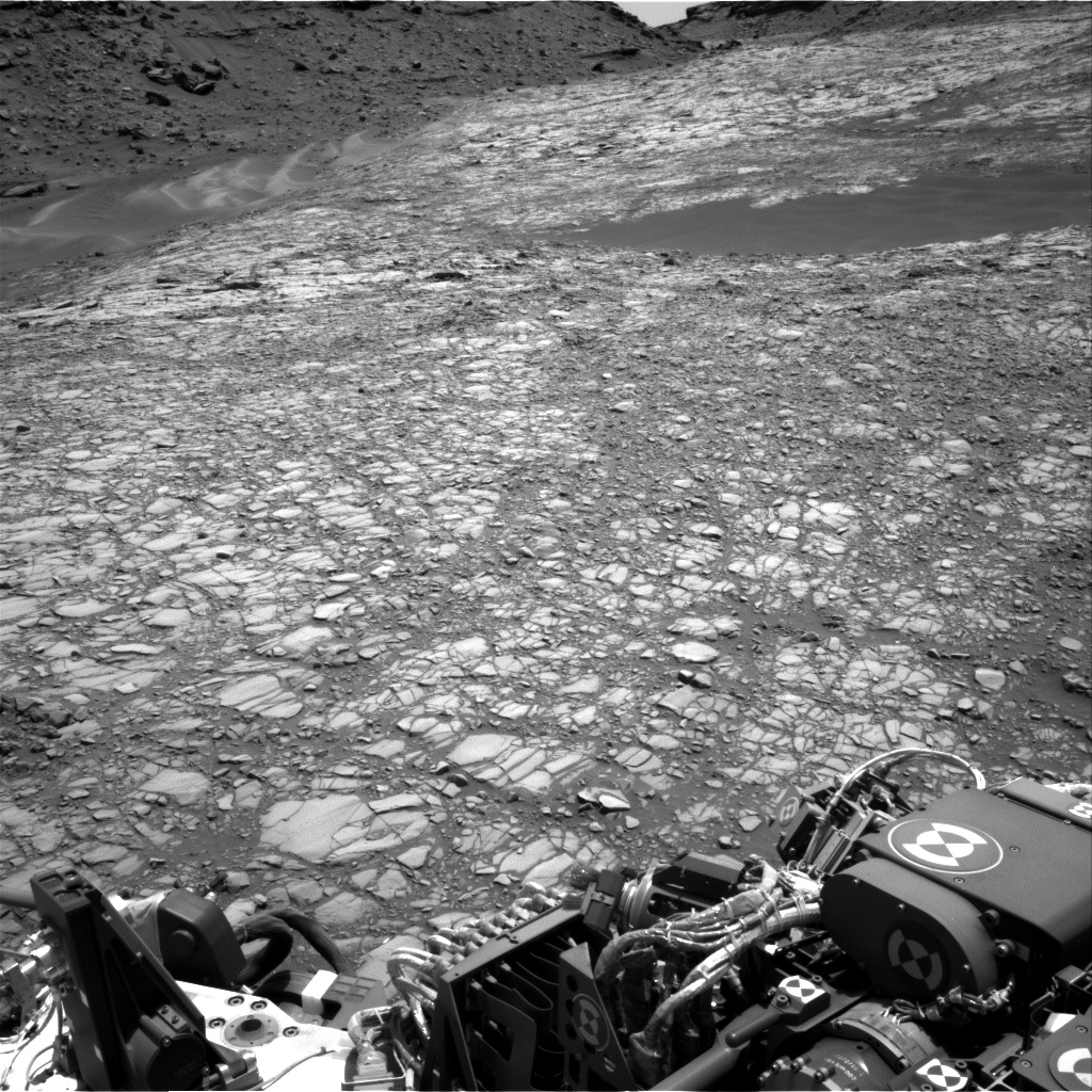 Nasa's Mars rover Curiosity acquired this image using its Right Navigation Camera on Sol 1417, at drive 1194, site number 56