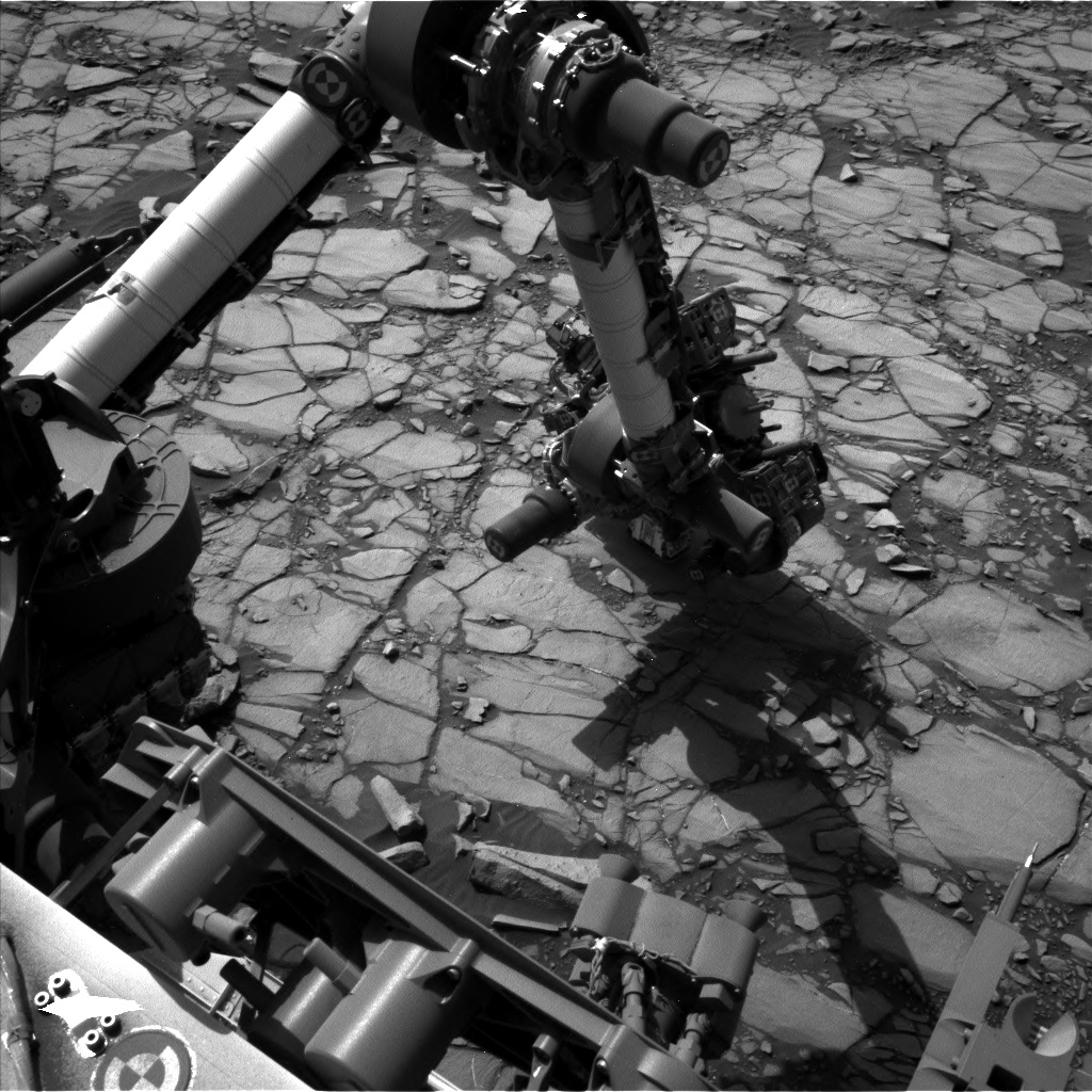 Nasa's Mars rover Curiosity acquired this image using its Left Navigation Camera on Sol 1418, at drive 1236, site number 56