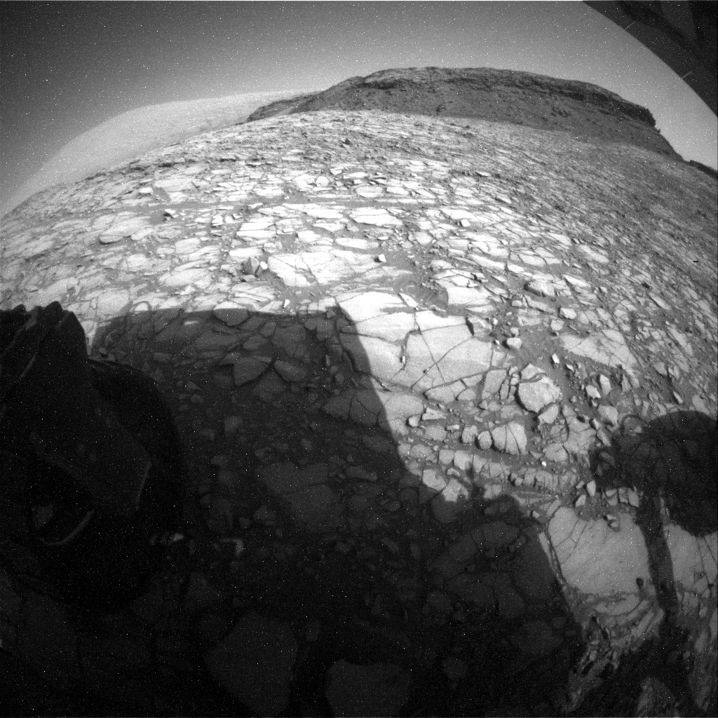 NASA's Mars rover Curiosity acquired this image using its Rear Hazard Avoidance Cameras (Rear Hazcams) on Sol 1418