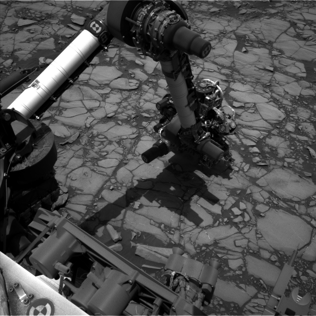 Nasa's Mars rover Curiosity acquired this image using its Left Navigation Camera on Sol 1420, at drive 1236, site number 56