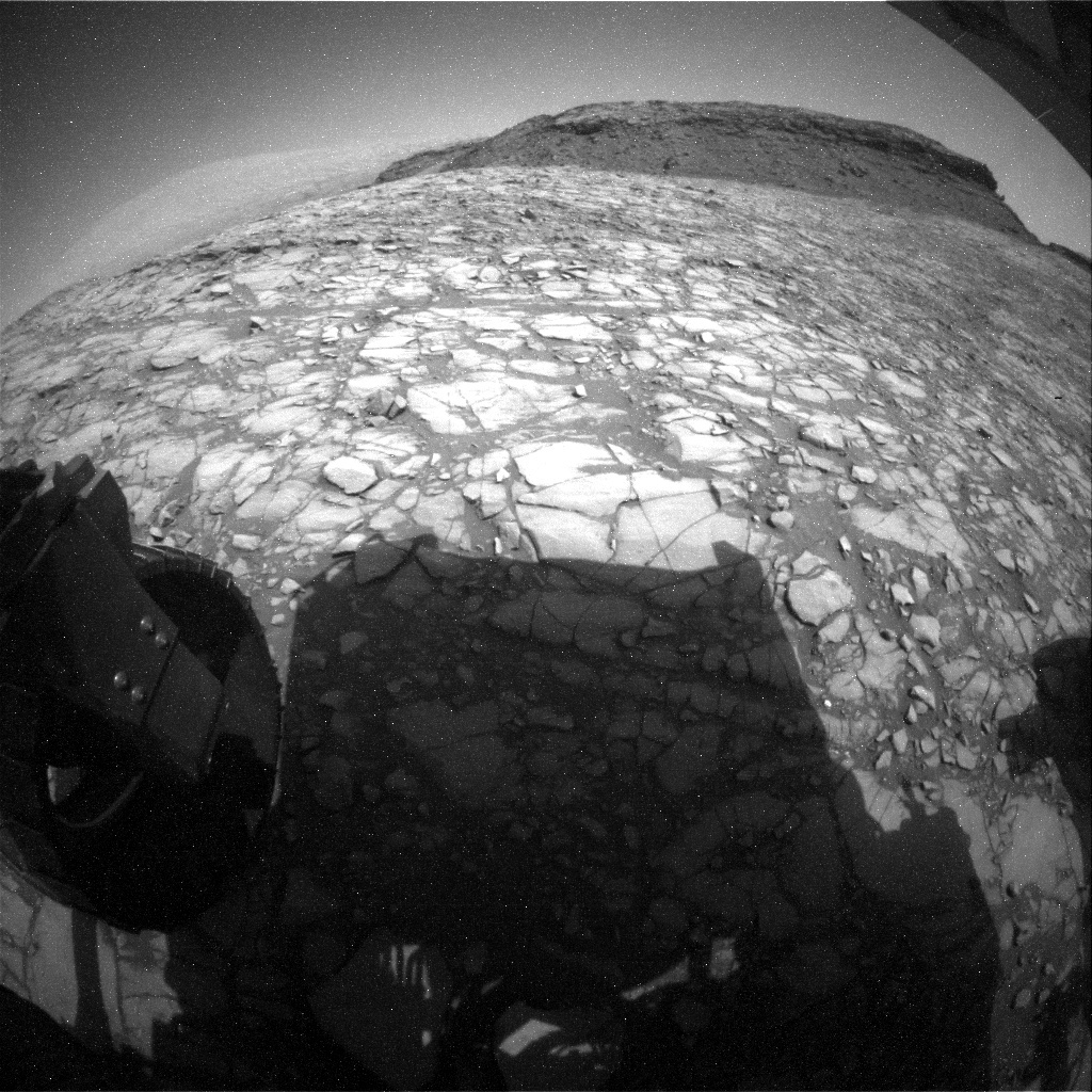 NASA's Mars rover Curiosity acquired this image using its Rear Hazard Avoidance Cameras (Rear Hazcams) on Sol 1420