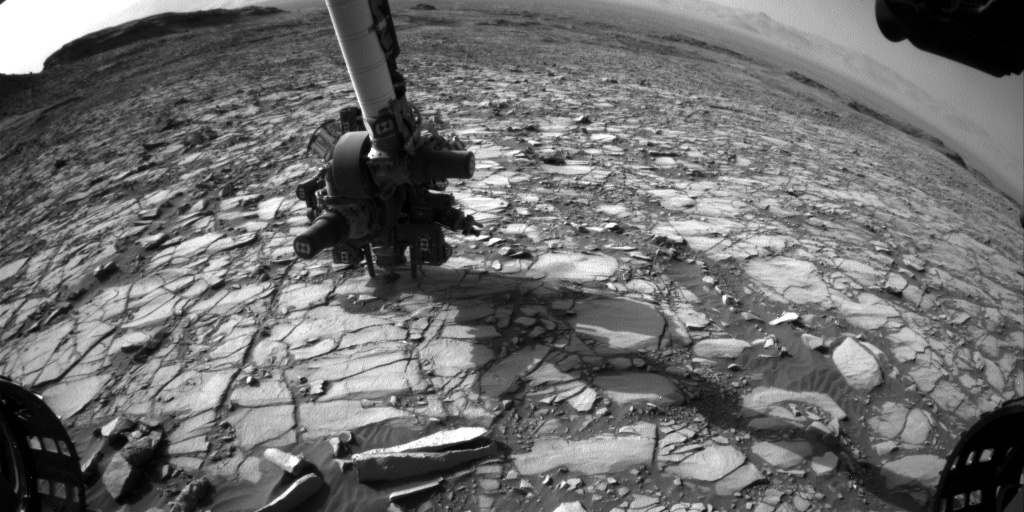 Nasa's Mars rover Curiosity acquired this image using its Front Hazard Avoidance Camera (Front Hazcam) on Sol 1422, at drive 1236, site number 56