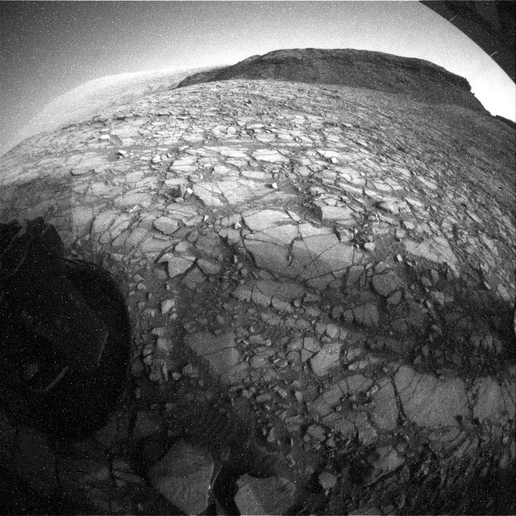 NASA's Mars rover Curiosity acquired this image using its Rear Hazard Avoidance Cameras (Rear Hazcams) on Sol 1422