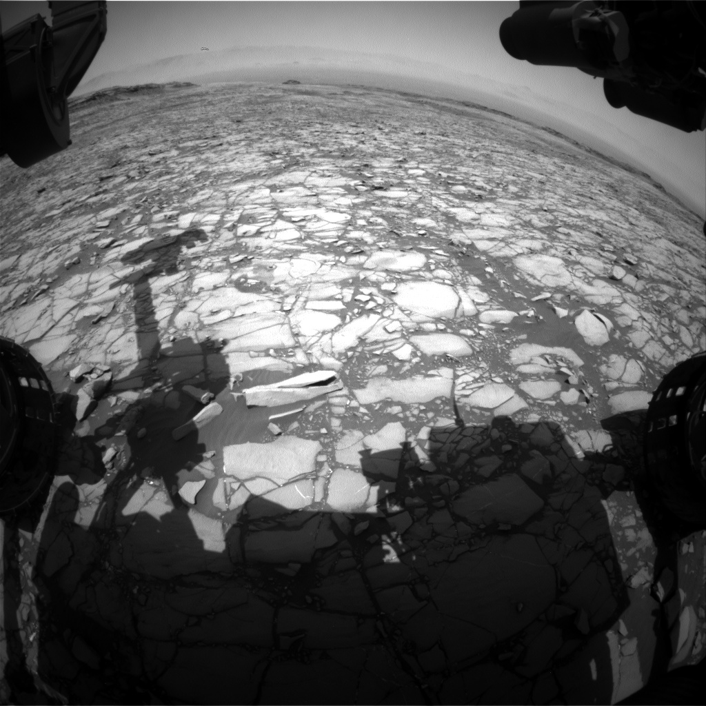 Nasa's Mars rover Curiosity acquired this image using its Front Hazard Avoidance Camera (Front Hazcam) on Sol 1424, at drive 1236, site number 56