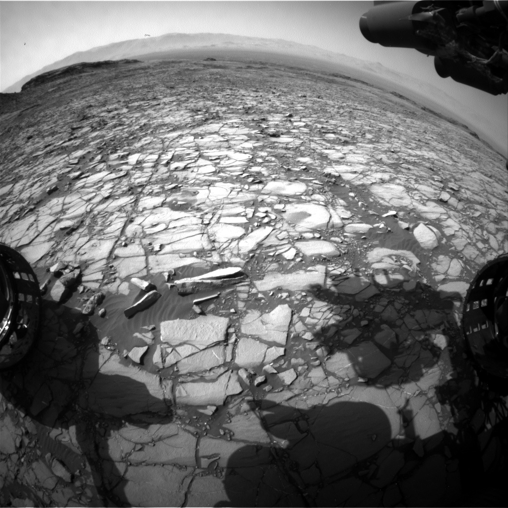 Nasa's Mars rover Curiosity acquired this image using its Front Hazard Avoidance Camera (Front Hazcam) on Sol 1426, at drive 1236, site number 56