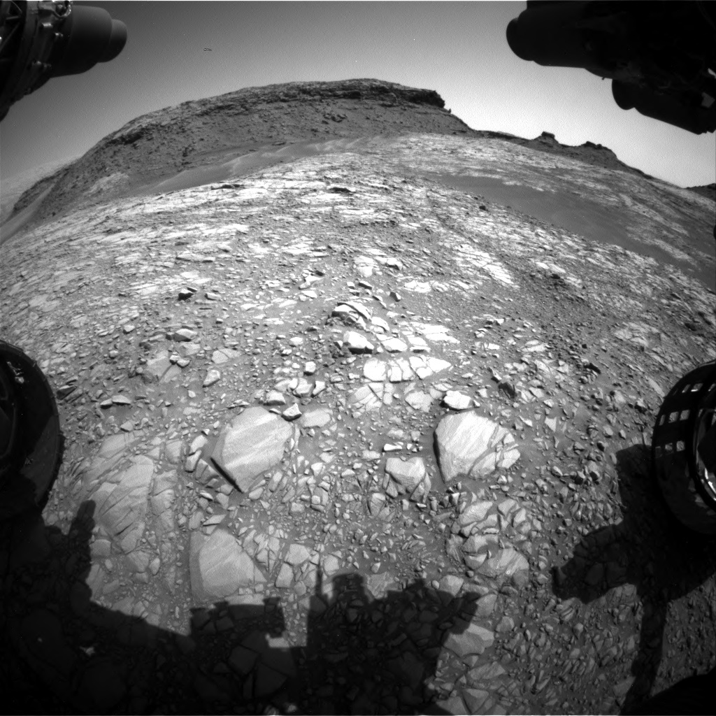Nasa's Mars rover Curiosity acquired this image using its Front Hazard Avoidance Camera (Front Hazcam) on Sol 1427, at drive 1326, site number 56