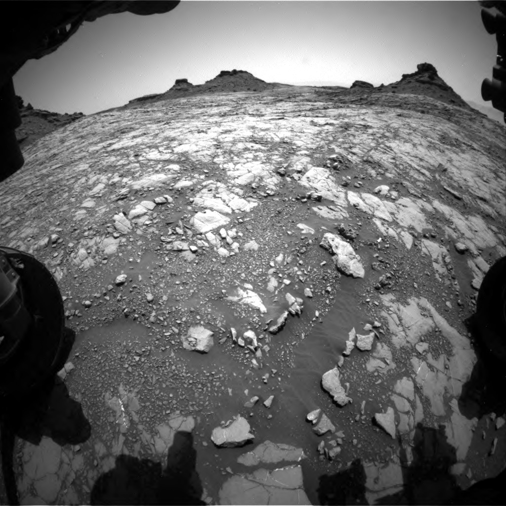 NASA's Mars rover Curiosity acquired this image using its Front Hazard Avoidance Cameras (Front Hazcams) on Sol 1428