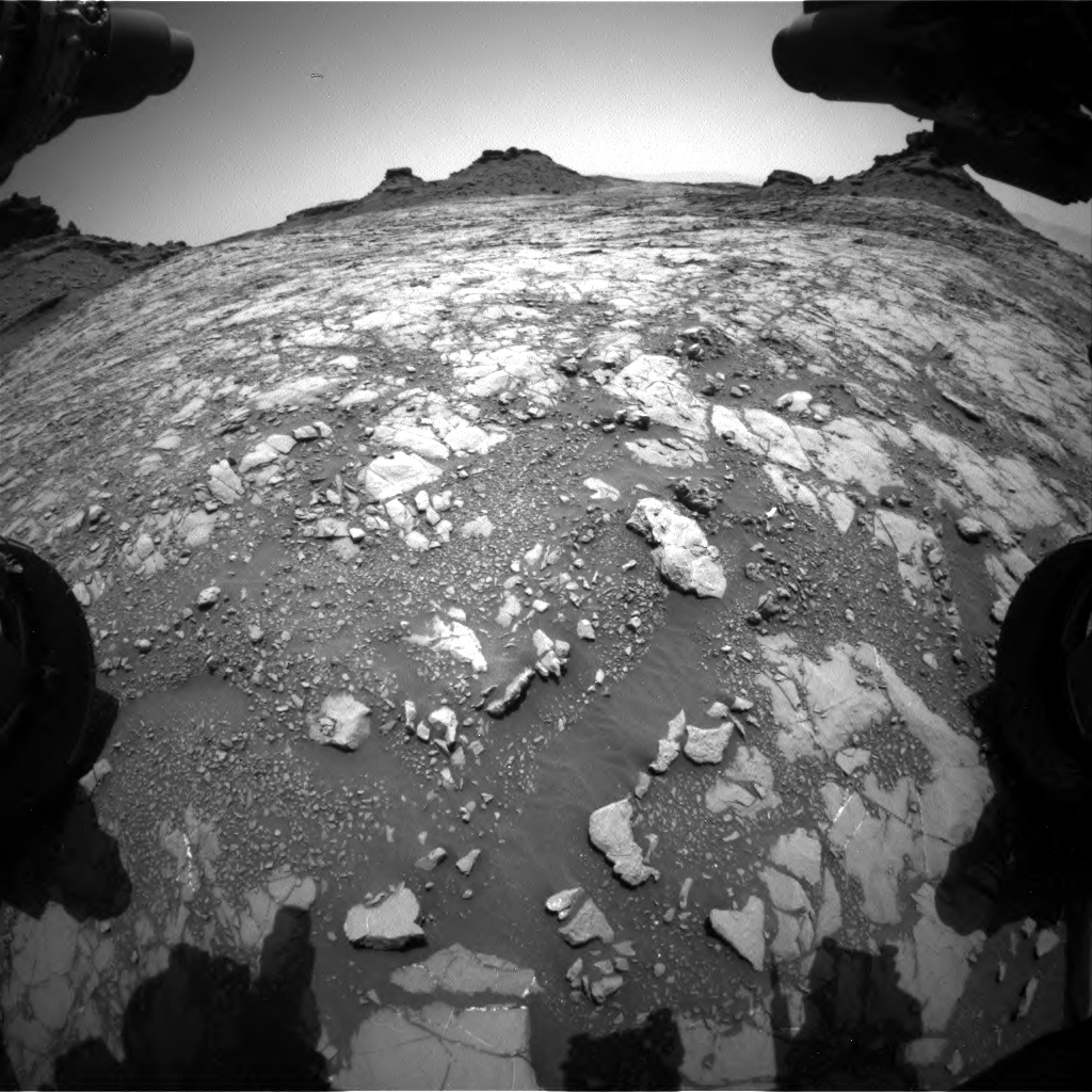 Nasa's Mars rover Curiosity acquired this image using its Front Hazard Avoidance Camera (Front Hazcam) on Sol 1428, at drive 1614, site number 56