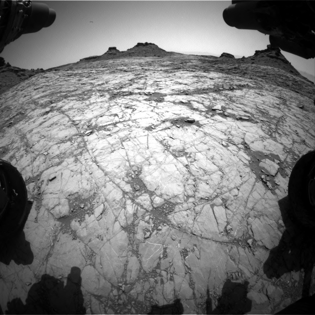 Nasa's Mars rover Curiosity acquired this image using its Front Hazard Avoidance Camera (Front Hazcam) on Sol 1428, at drive 1632, site number 56
