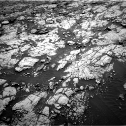 Nasa's Mars rover Curiosity acquired this image using its Left Navigation Camera on Sol 1428, at drive 1548, site number 56