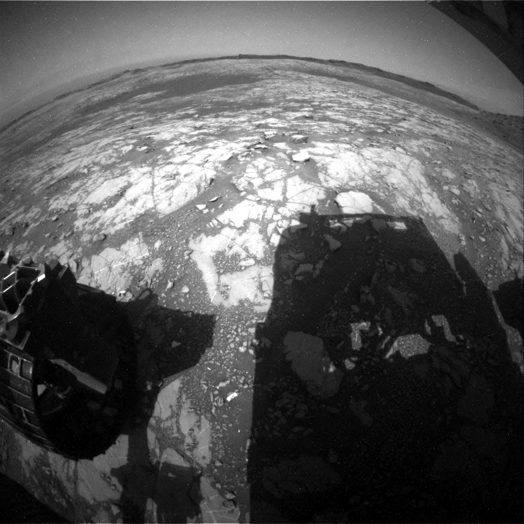 NASA's Mars rover Curiosity acquired this image using its Rear Hazard Avoidance Cameras (Rear Hazcams) on Sol 1428