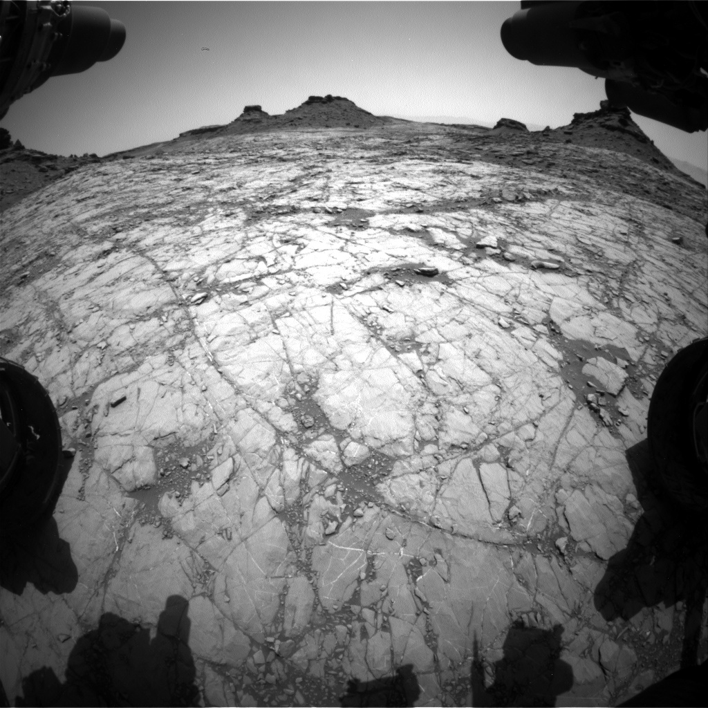 Nasa's Mars rover Curiosity acquired this image using its Front Hazard Avoidance Camera (Front Hazcam) on Sol 1429, at drive 1632, site number 56