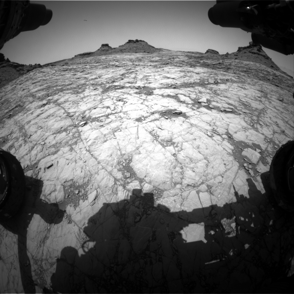 Nasa's Mars rover Curiosity acquired this image using its Front Hazard Avoidance Camera (Front Hazcam) on Sol 1430, at drive 1632, site number 56