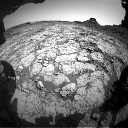 Nasa's Mars rover Curiosity acquired this image using its Front Hazard Avoidance Camera (Front Hazcam) on Sol 1431, at drive 2010, site number 56