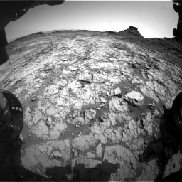 NASA's Mars rover Curiosity acquired this image using its Front Hazard Avoidance Cameras (Front Hazcams) on Sol 1431