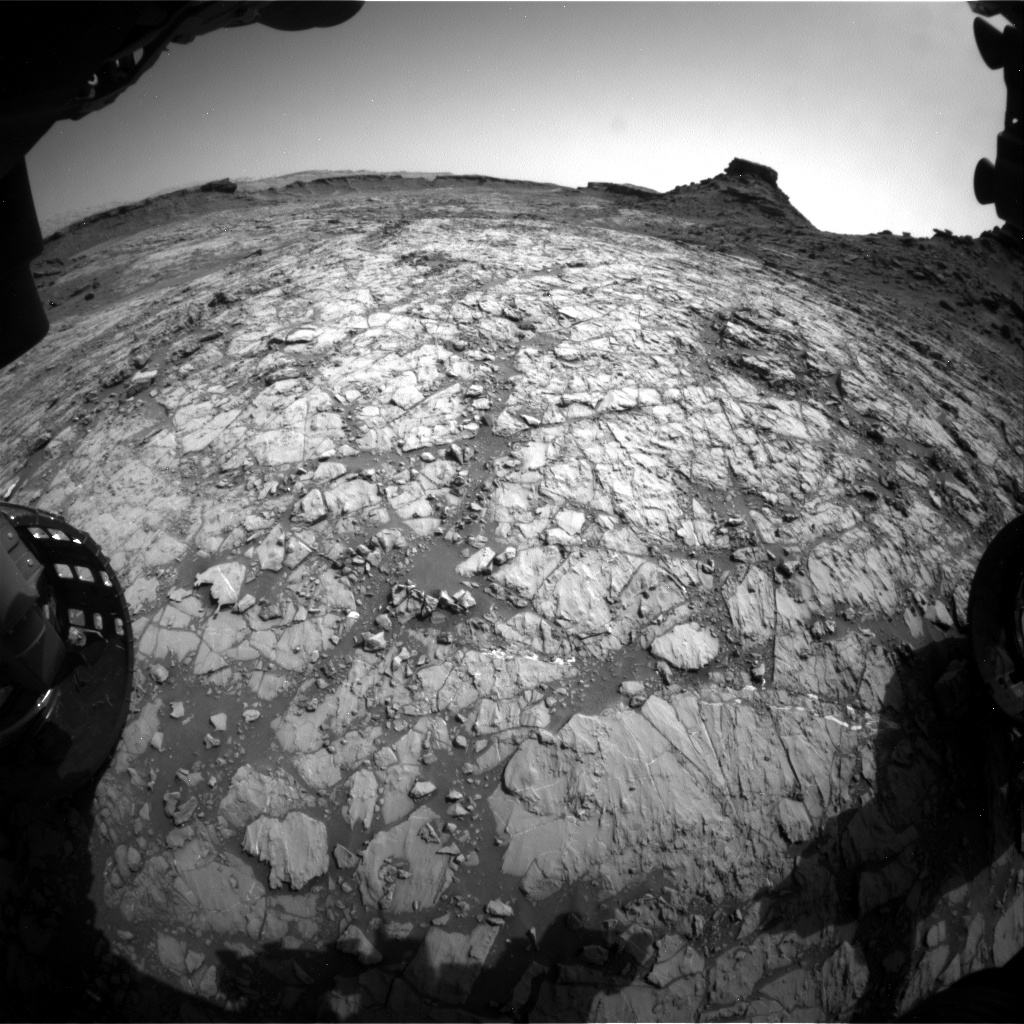 Nasa's Mars rover Curiosity acquired this image using its Front Hazard Avoidance Camera (Front Hazcam) on Sol 1431, at drive 2034, site number 56