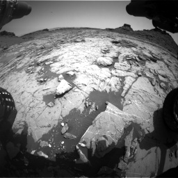 Nasa's Mars rover Curiosity acquired this image using its Front Hazard Avoidance Camera (Front Hazcam) on Sol 1431, at drive 1926, site number 56