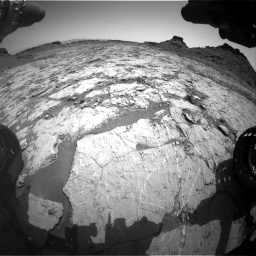 Nasa's Mars rover Curiosity acquired this image using its Front Hazard Avoidance Camera (Front Hazcam) on Sol 1431, at drive 1956, site number 56