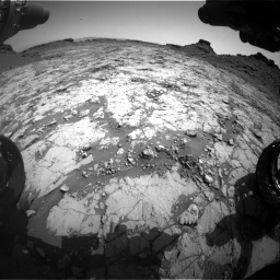 Nasa's Mars rover Curiosity acquired this image using its Front Hazard Avoidance Camera (Front Hazcam) on Sol 1431, at drive 1968, site number 56