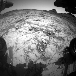Nasa's Mars rover Curiosity acquired this image using its Front Hazard Avoidance Camera (Front Hazcam) on Sol 1431, at drive 1980, site number 56