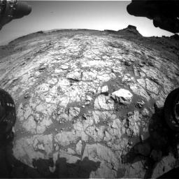 Nasa's Mars rover Curiosity acquired this image using its Front Hazard Avoidance Camera (Front Hazcam) on Sol 1431, at drive 2022, site number 56