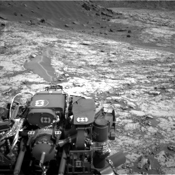 Nasa's Mars rover Curiosity acquired this image using its Left Navigation Camera on Sol 1431, at drive 2010, site number 56