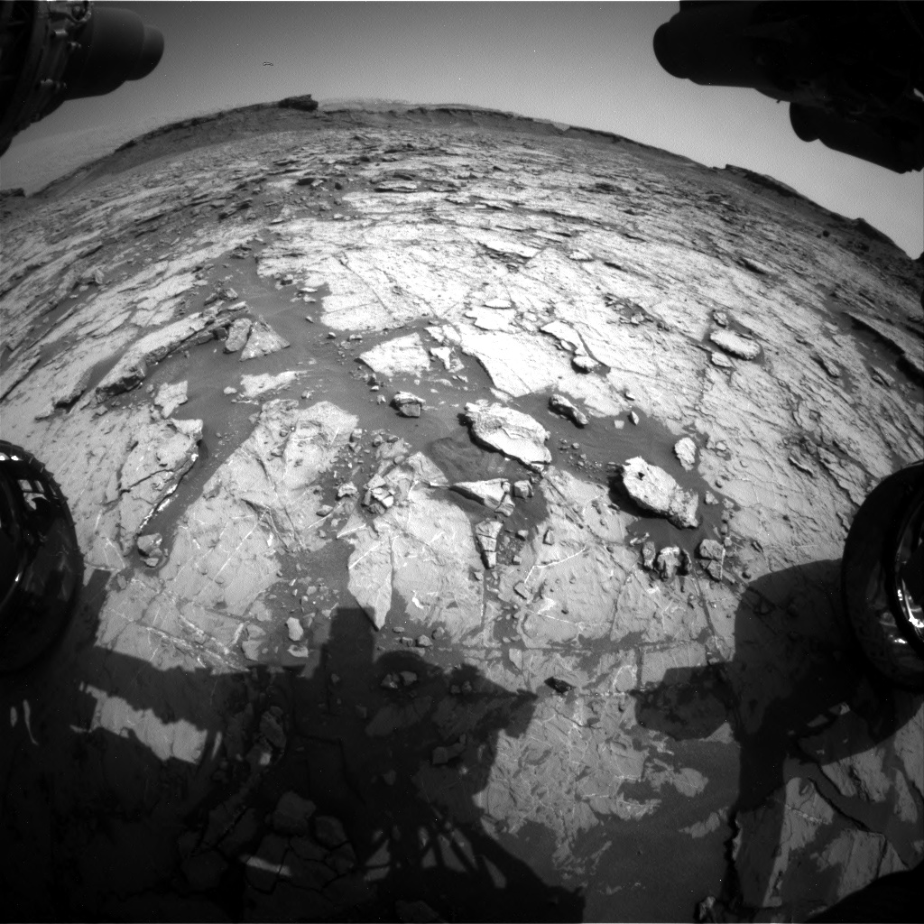 Nasa's Mars rover Curiosity acquired this image using its Front Hazard Avoidance Camera (Front Hazcam) on Sol 1432, at drive 2428, site number 56