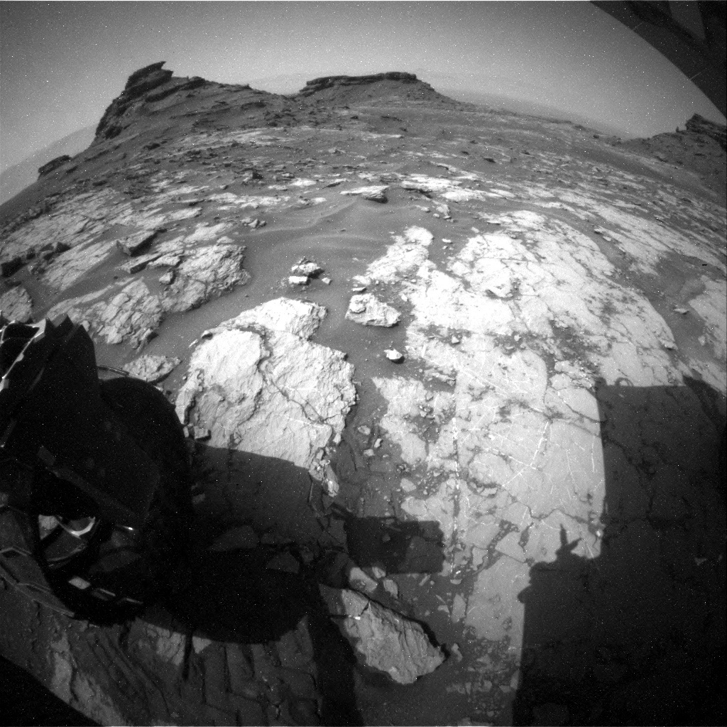 NASA's Mars rover Curiosity acquired this image using its Rear Hazard Avoidance Cameras (Rear Hazcams) on Sol 1432