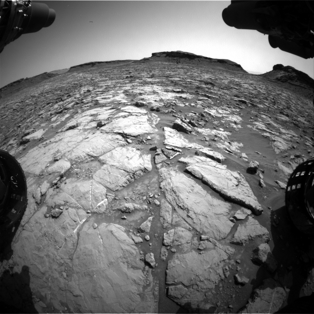 Nasa's Mars rover Curiosity acquired this image using its Front Hazard Avoidance Camera (Front Hazcam) on Sol 1435, at drive 462, site number 57