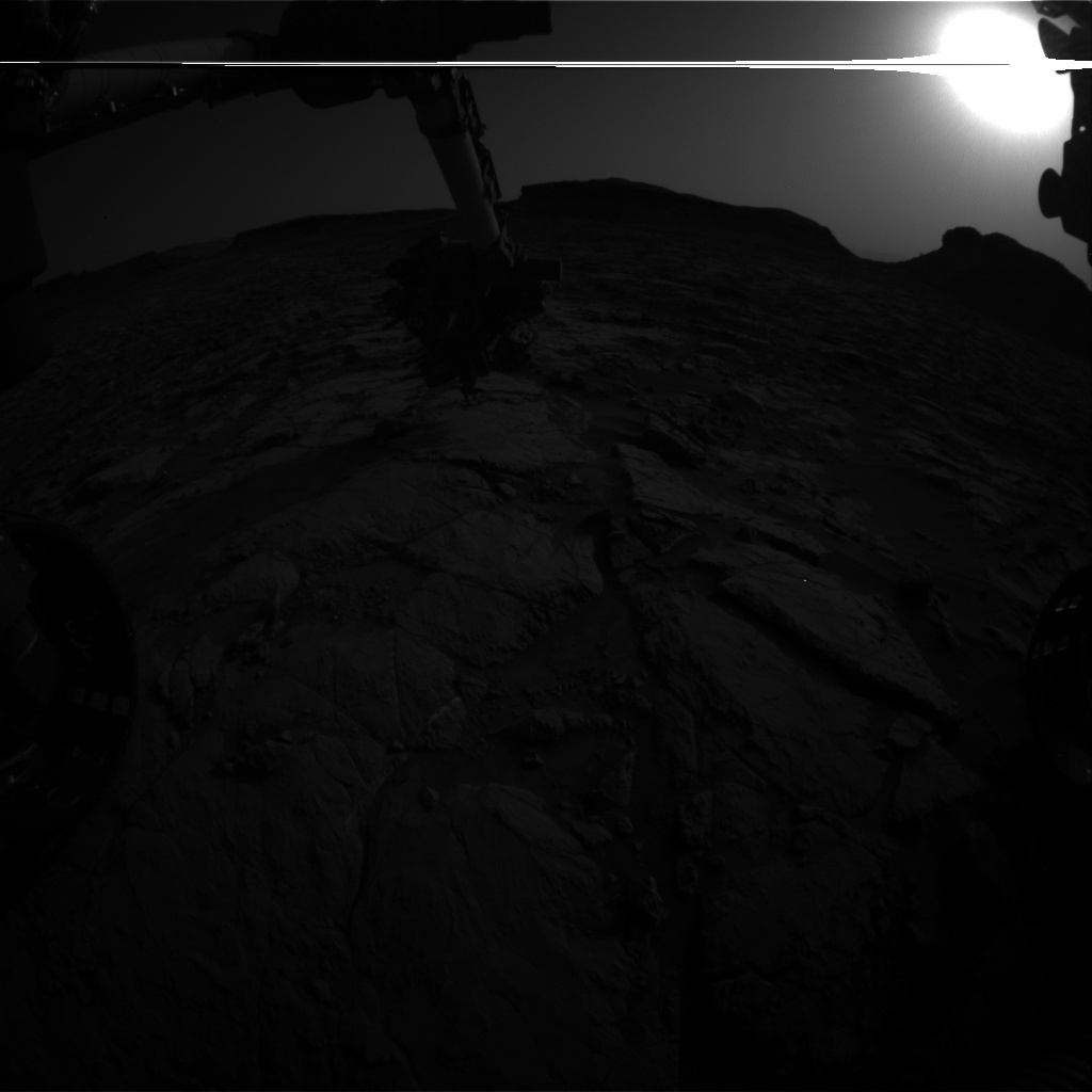 Nasa's Mars rover Curiosity acquired this image using its Front Hazard Avoidance Camera (Front Hazcam) on Sol 1436, at drive 462, site number 57
