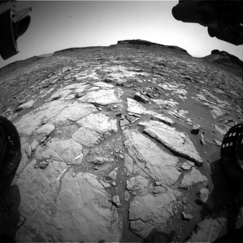 Nasa's Mars rover Curiosity acquired this image using its Front Hazard Avoidance Camera (Front Hazcam) on Sol 1437, at drive 462, site number 57