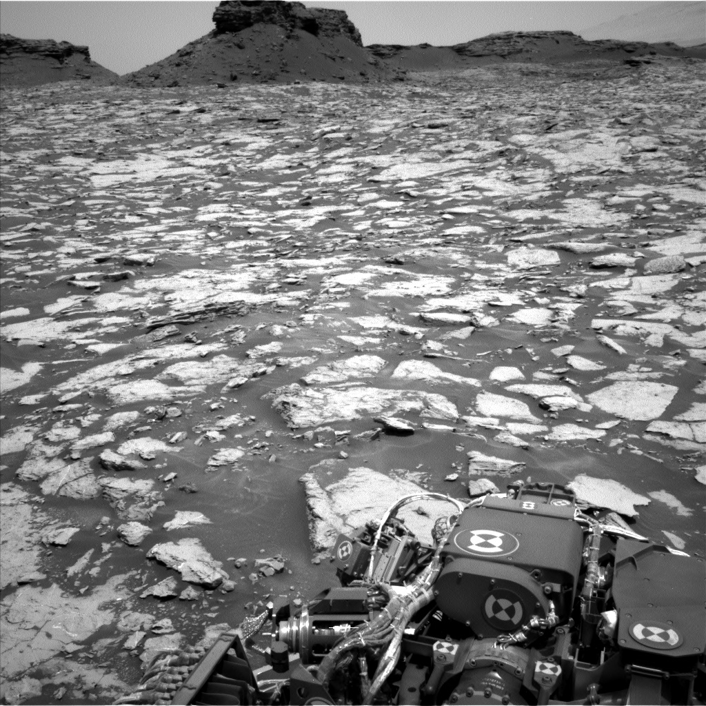 Nasa's Mars rover Curiosity acquired this image using its Left Navigation Camera on Sol 1438, at drive 774, site number 57
