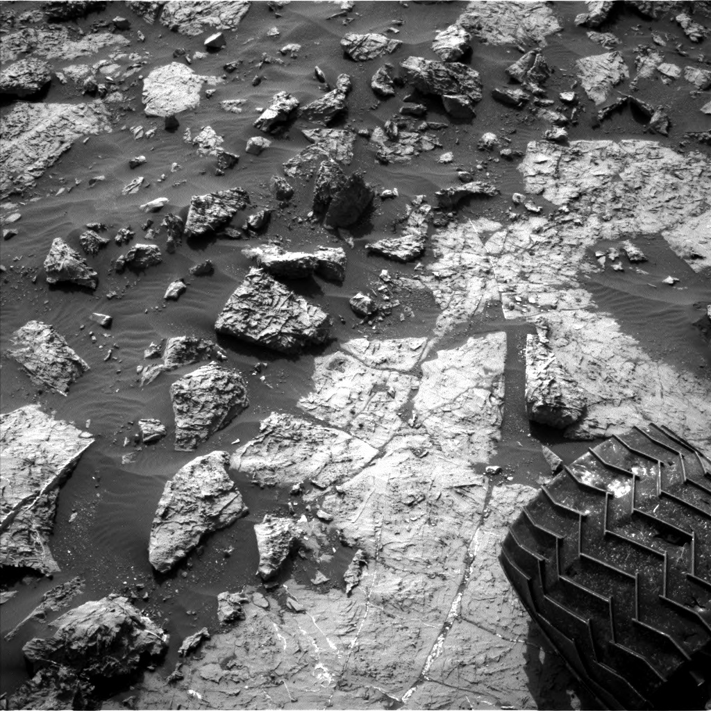 Nasa's Mars rover Curiosity acquired this image using its Left Navigation Camera on Sol 1439, at drive 1020, site number 57