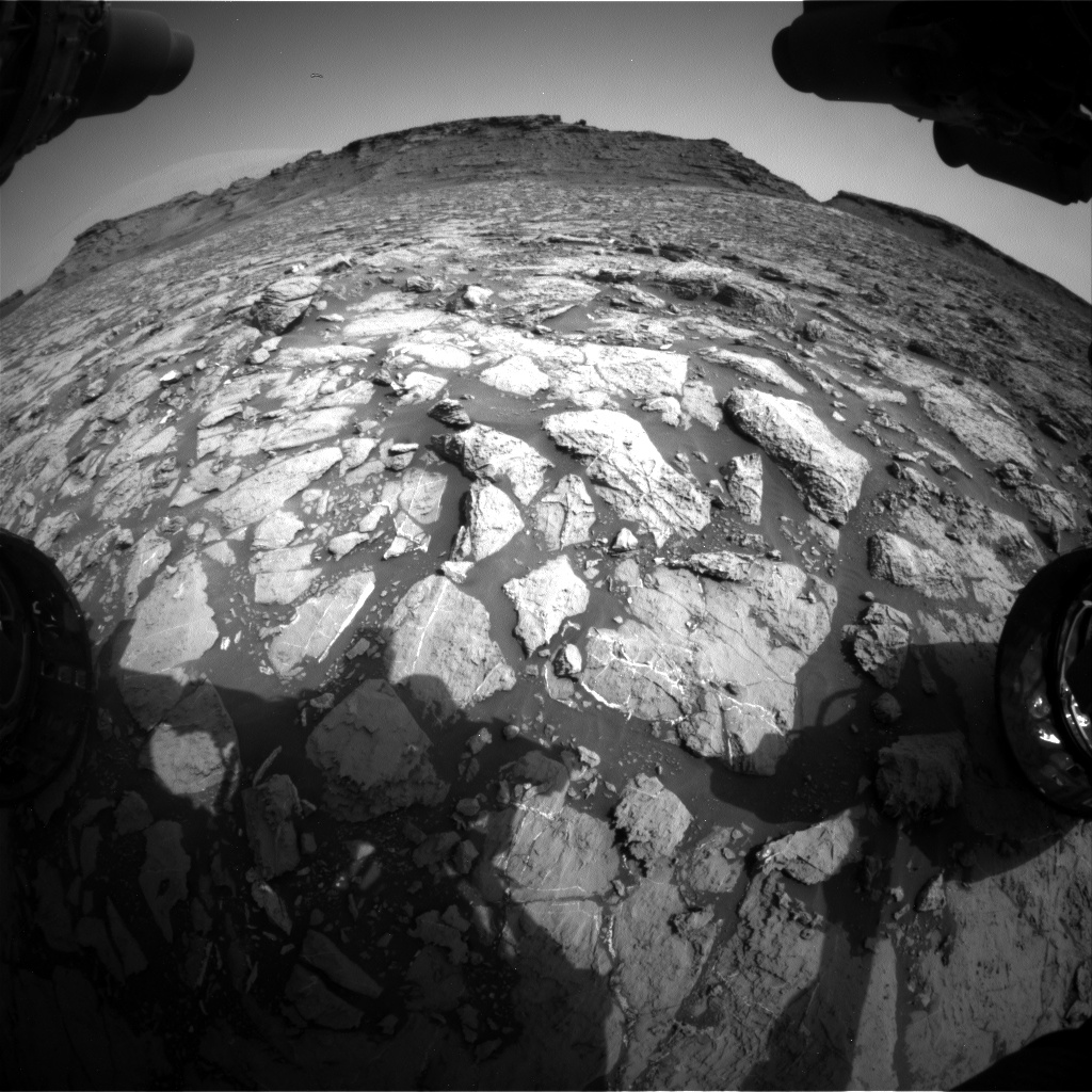 Nasa's Mars rover Curiosity acquired this image using its Front Hazard Avoidance Camera (Front Hazcam) on Sol 1440, at drive 1020, site number 57