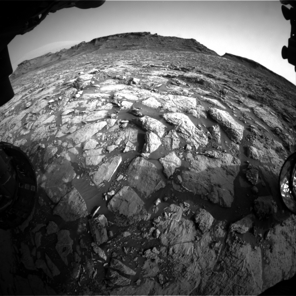 Nasa's Mars rover Curiosity acquired this image using its Front Hazard Avoidance Camera (Front Hazcam) on Sol 1441, at drive 1020, site number 57
