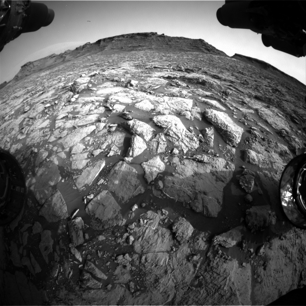 NASA's Mars rover Curiosity acquired this image using its Front Hazard Avoidance Cameras (Front Hazcams) on Sol 1441