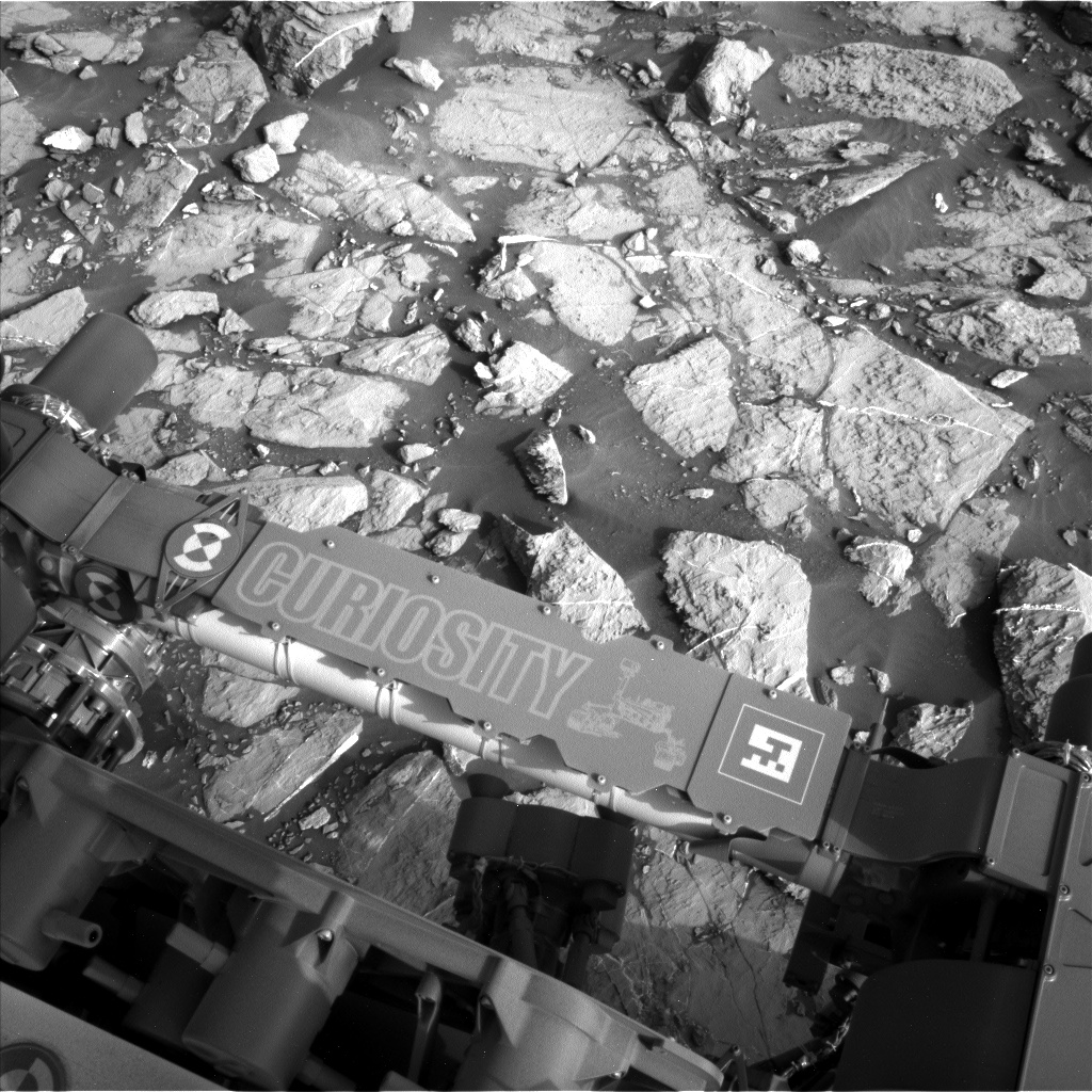 Nasa's Mars rover Curiosity acquired this image using its Left Navigation Camera on Sol 1441, at drive 1020, site number 57