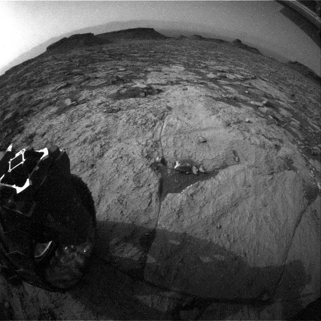 NASA's Mars rover Curiosity acquired this image using its Rear Hazard Avoidance Cameras (Rear Hazcams) on Sol 1441
