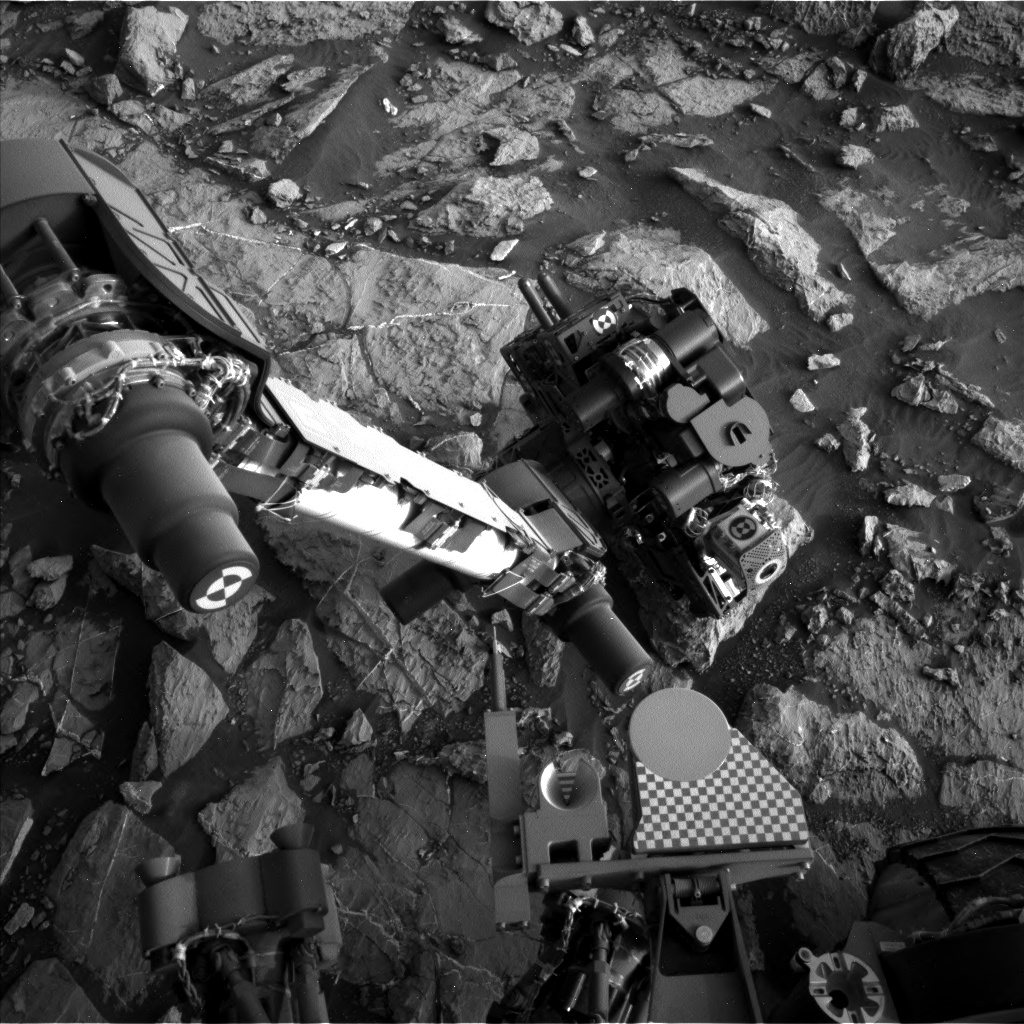 Nasa's Mars rover Curiosity acquired this image using its Left Navigation Camera on Sol 1444, at drive 1020, site number 57