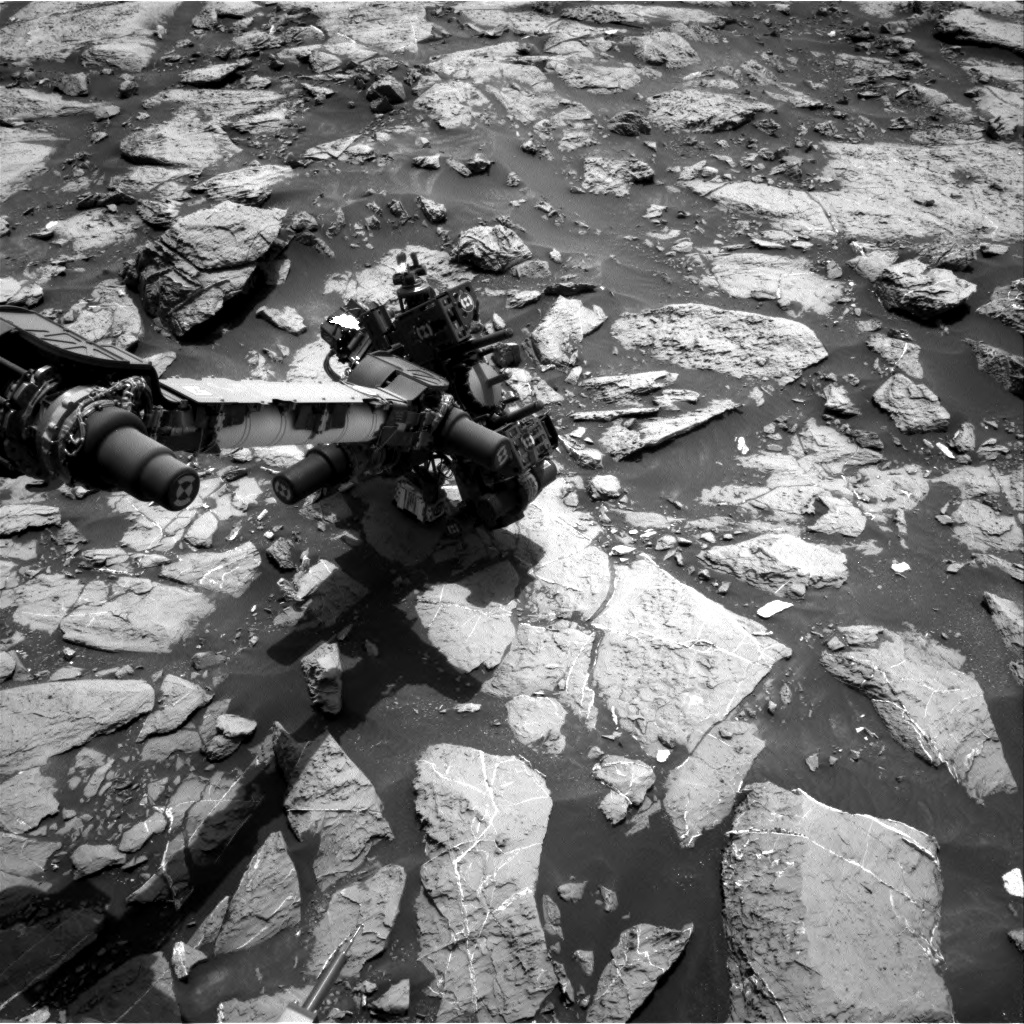 Nasa's Mars rover Curiosity acquired this image using its Right Navigation Camera on Sol 1445, at drive 1020, site number 57