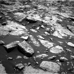 Nasa's Mars rover Curiosity acquired this image using its Left Navigation Camera on Sol 1446, at drive 1080, site number 57