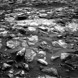 Nasa's Mars rover Curiosity acquired this image using its Left Navigation Camera on Sol 1448, at drive 1816, site number 57