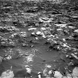Nasa's Mars rover Curiosity acquired this image using its Right Navigation Camera on Sol 1448, at drive 1636, site number 57