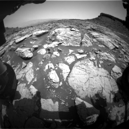 Nasa's Mars rover Curiosity acquired this image using its Front Hazard Avoidance Camera (Front Hazcam) on Sol 1452, at drive 2002, site number 57