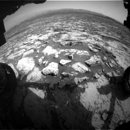 Nasa's Mars rover Curiosity acquired this image using its Front Hazard Avoidance Camera (Front Hazcam) on Sol 1452, at drive 2290, site number 57