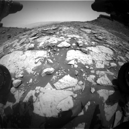Nasa's Mars rover Curiosity acquired this image using its Front Hazard Avoidance Camera (Front Hazcam) on Sol 1452, at drive 1978, site number 57