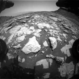 Nasa's Mars rover Curiosity acquired this image using its Front Hazard Avoidance Camera (Front Hazcam) on Sol 1452, at drive 1990, site number 57