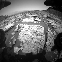Nasa's Mars rover Curiosity acquired this image using its Front Hazard Avoidance Camera (Front Hazcam) on Sol 1452, at drive 2014, site number 57