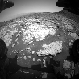 Nasa's Mars rover Curiosity acquired this image using its Front Hazard Avoidance Camera (Front Hazcam) on Sol 1452, at drive 2038, site number 57