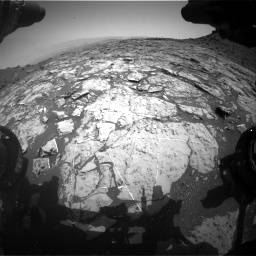 Nasa's Mars rover Curiosity acquired this image using its Front Hazard Avoidance Camera (Front Hazcam) on Sol 1452, at drive 2044, site number 57